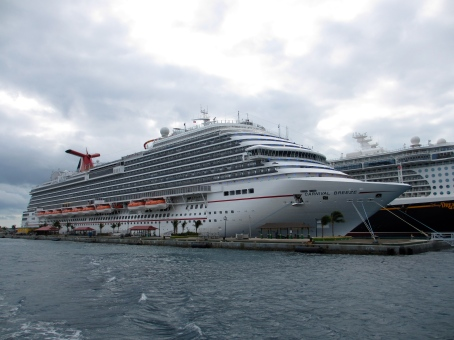 Carnival Breeze at Nassau, Bahamas