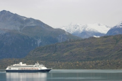 ms Volendam departs Glacier Bay National Park , Alaska