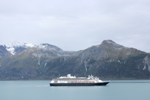 ms Volendam departing Glacier Bay National Park, Alaska.
