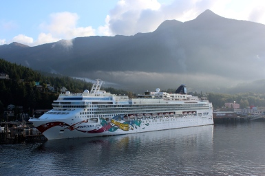 Norwegian Jewel at Skagway, Alaska