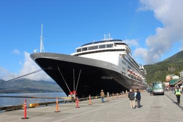 ms Volendam at Ketchikan, Alaska.